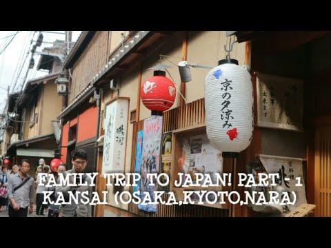 FIRST TRAVEL VLOG! Japan trip for 15 Days Itinerary – Part 1 – Kansai Area (Osaka, Kyoto, Nara)