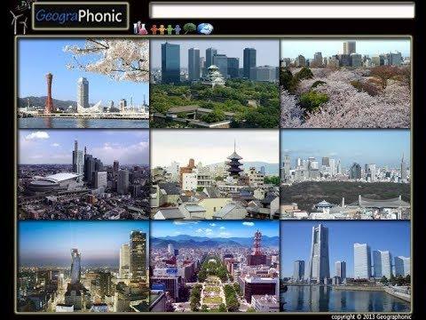 Cities of Japan, Kyoto,  Fukuoka, Nagoya, Hiroshima, Nagasaki,