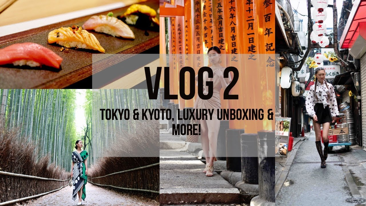 VLOG 2: TOKYO & KYOTO TRAVEL DIARY, LUXURY UNBOXING & MORE!