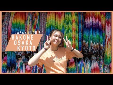 JAPAN (FOOD) TOURS: HAKONE, KYOTO,  OSAKA  VLOG | Joelle in Japan pt 2