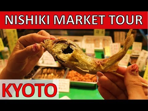 Japanese Street Food Tour! – Nishiki Market in KYOTO 2018 錦市場京都