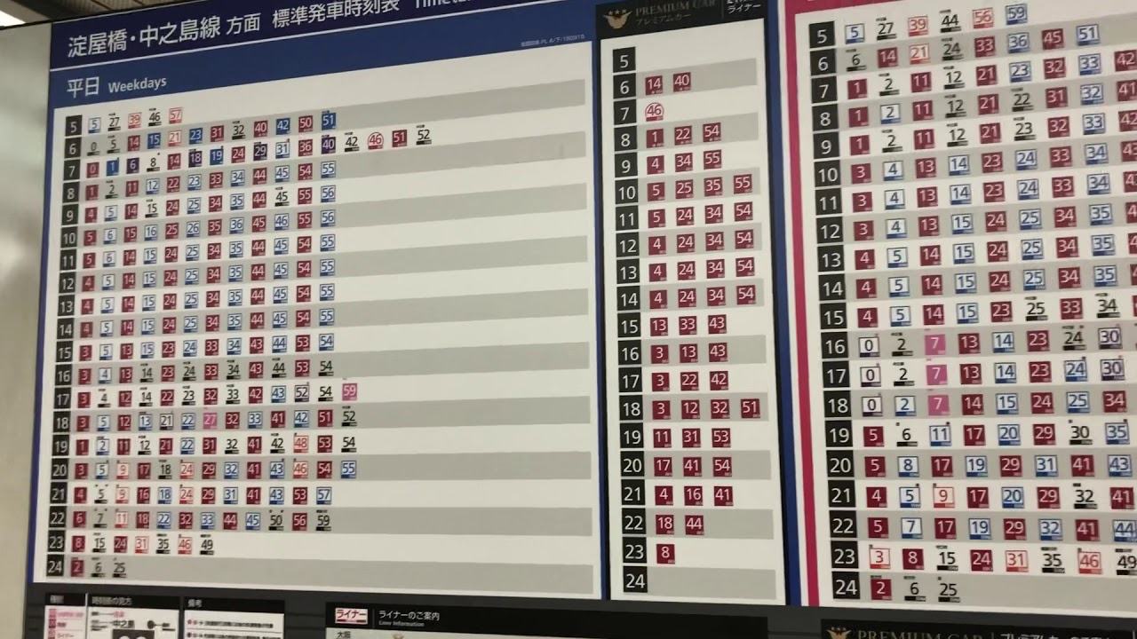 [Japan trip] Kyoto, Keihan Shijo Station timetable