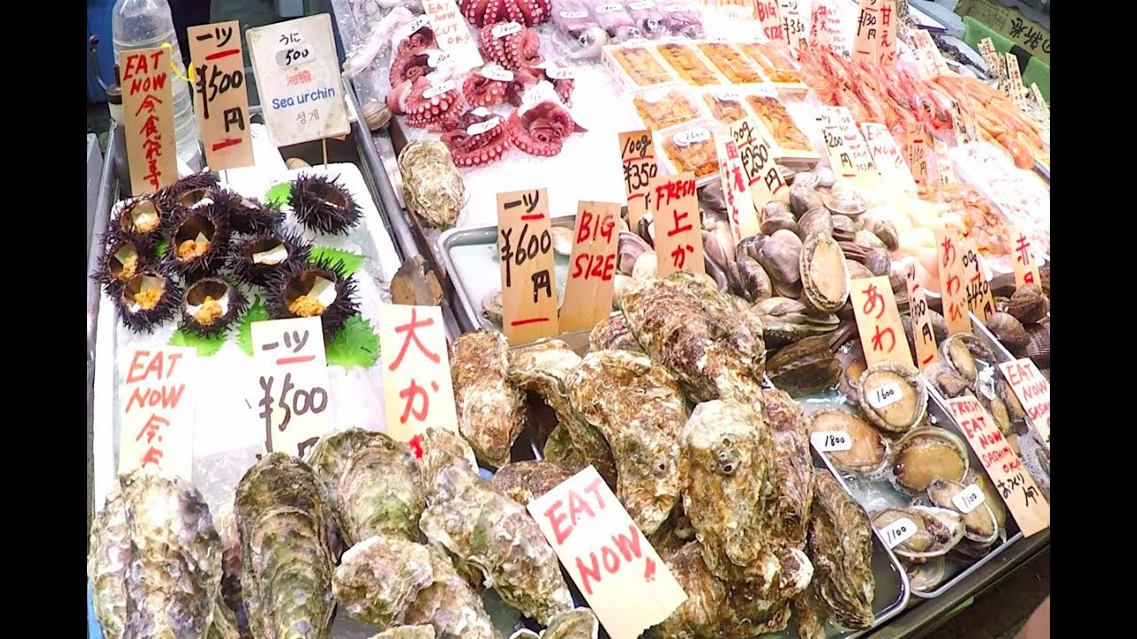 Japanese Street Food Tour l Nishiki Market in Kyoto, Japan