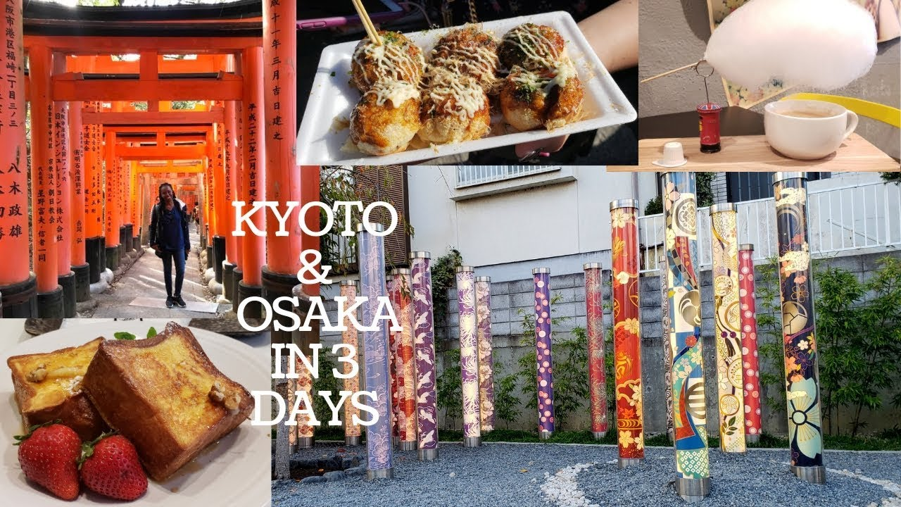 3 Days in Kyoto & Osaka | 8 Day Japan Trip | Travel Vlog Part 1