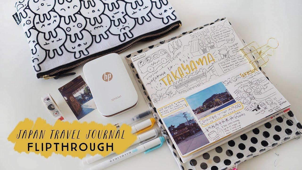 Flipthrough of my Travel Journal – Japan travel journal: Kyoto, Kanazawa, Takayama, Tokyo
