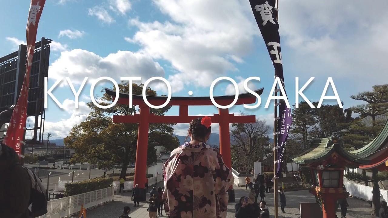 Kyoto and Osaka travel montage with osmo pocket
