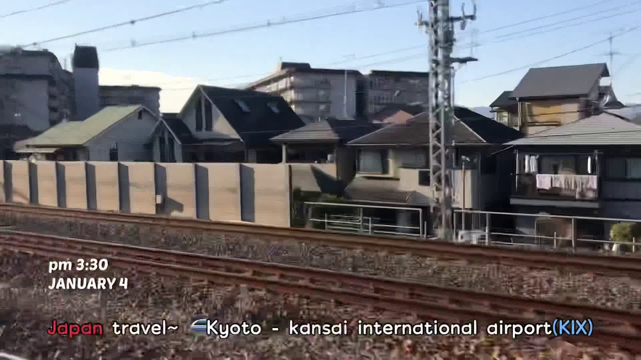 Japan travel / 🚄Kyoto – Kansai airport. 하루카, はるか列車). 最初の家族旅行記 가족여행기록~
