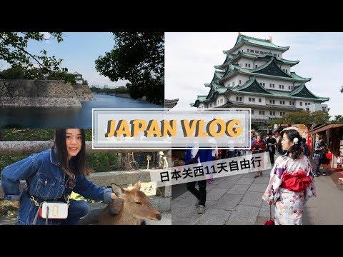 [hihi janice]Japan Travel VLOG/日本关西自由行/Osaka Travel/Kyoto Travel/Nara/Nagoya/Kobe
