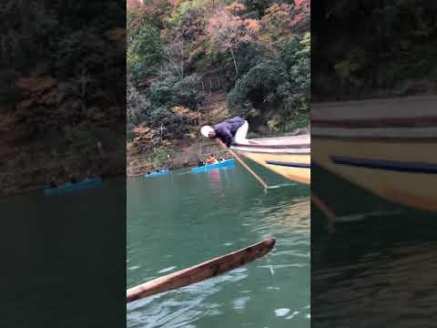 Japan TRAVEL – thưởng thức chèo thuyền dưới dòng sông Kyoto vào mùa lá đỏ 🚤
