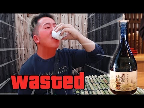 CHONNY tries Japanese sake in Kyoto