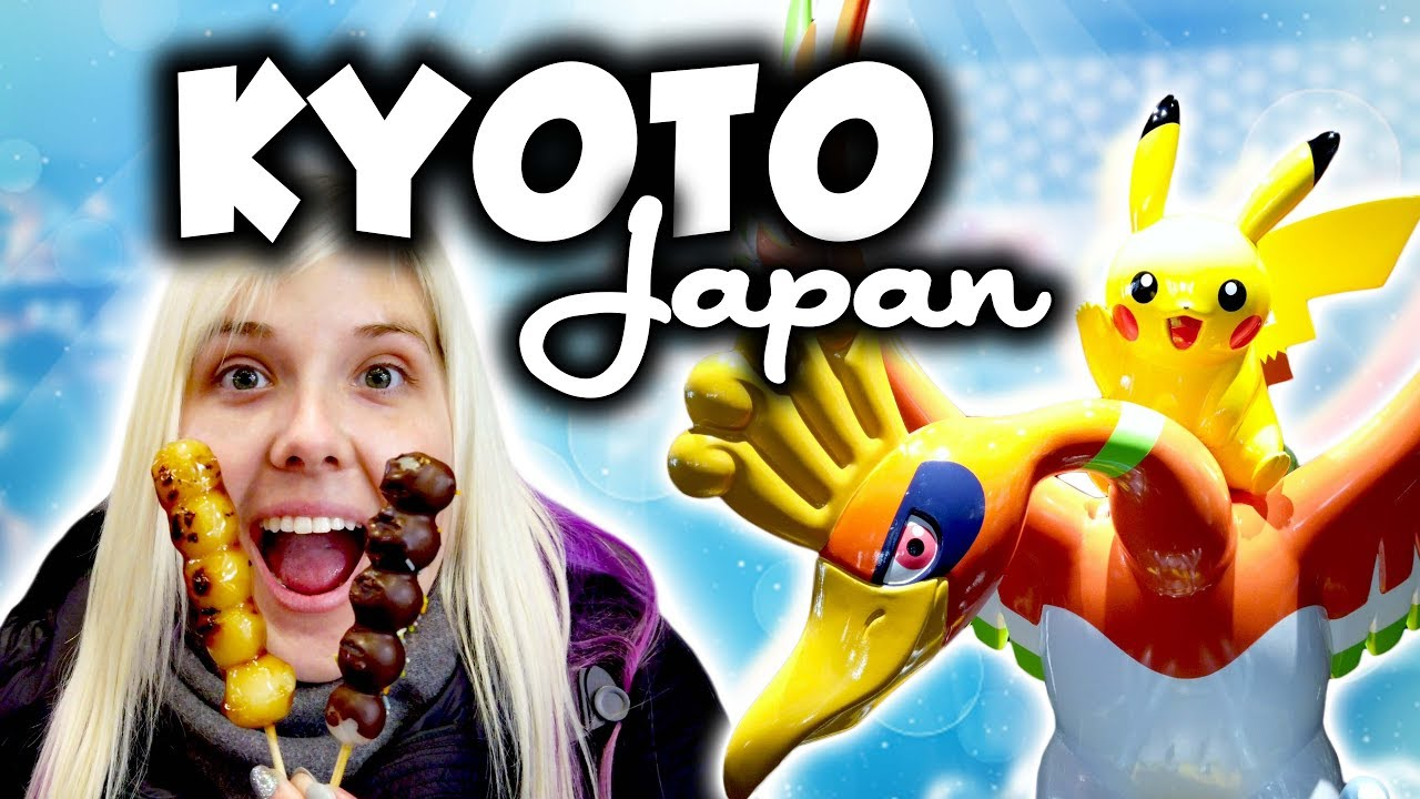 Our first time in Kyoto! New Pokemon Center, Nishiki Market, and evening temple tour in Japan