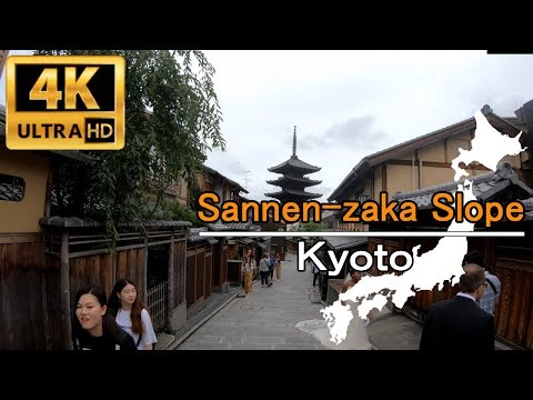 JAPAN Walking Tour in 4K | Kiyomizu gojo , Sannen-zaka Slope – Kyoto | 三寧坂(三年坂)