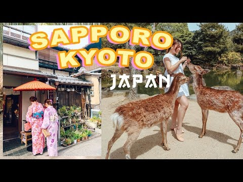 JAPAN TRAVEL VLOG in KYOTO + SAPPORO | Part 2  🇯🇵