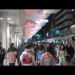 【4K】New Year's Shijyo Street crowded with tourists, Kyoto, Japan – 正月で賑わう京都四条通の風景